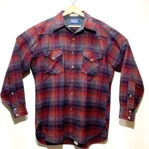 Pendleton Shirt High Grade Western Wool Snap